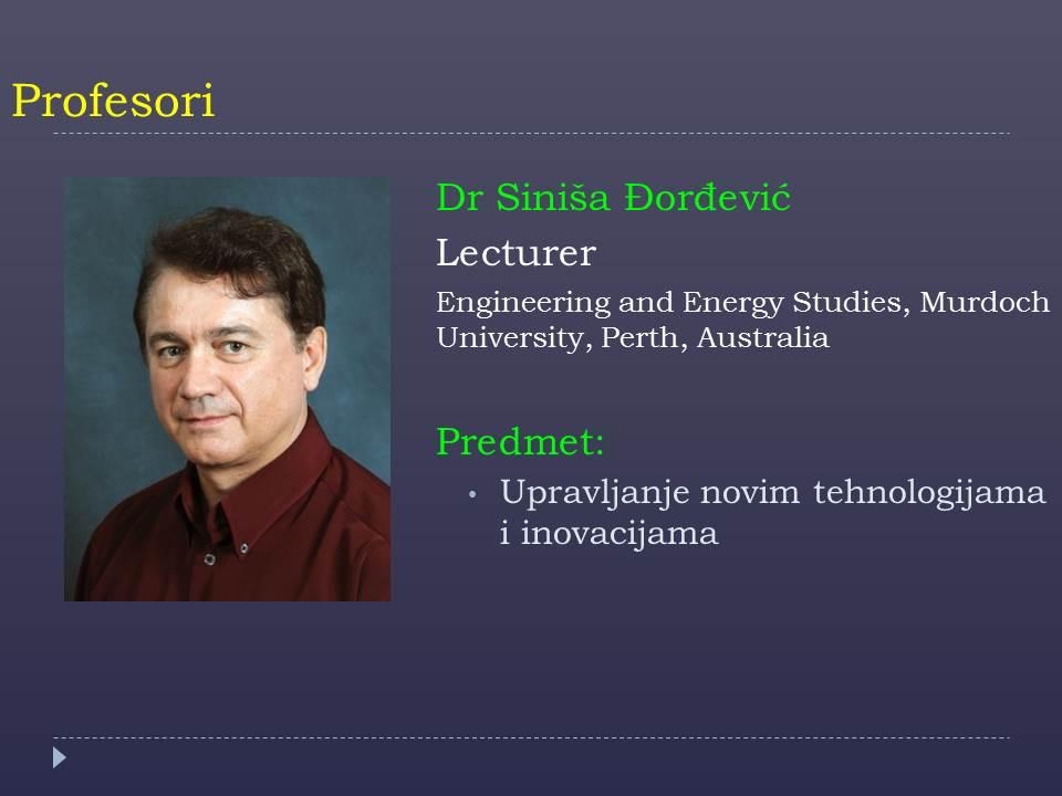 Prof. Sinisa Djordjevic