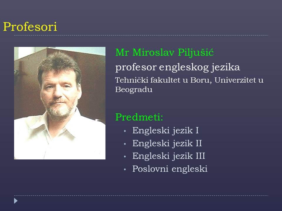 Prof. Miroslav Piljusic