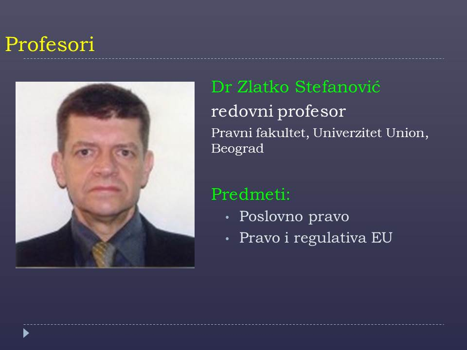 Prof. Zlatko Stefanovic
