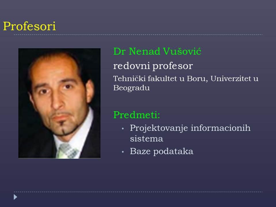 Prof. Nenad Vusovic
