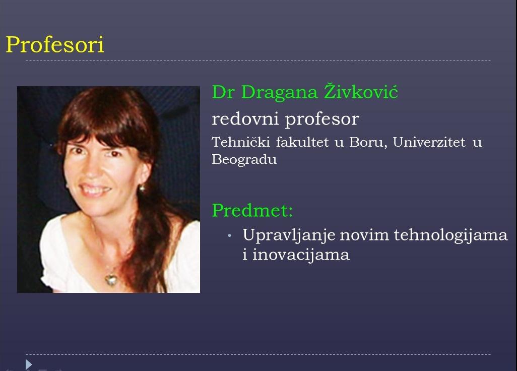 Prof. Dragana Zivkovic