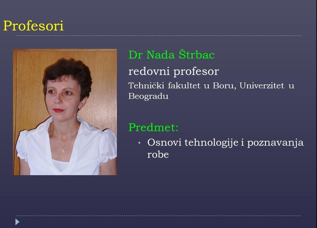 Prof. Nada Strbac
